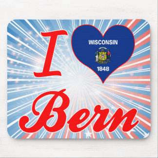I Love Bern, Wisconsin Mouse Pad