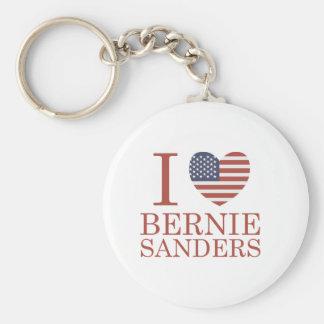 I Love Bernie Sanders Basic Round Button Keychain