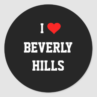 I Love Beverly Hills Classic Round Sticker