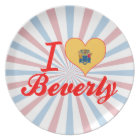 I Love Beverly, New Jersey Plate