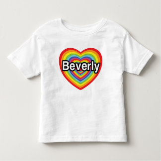 I love Beverly: rainbow heart Toddler T-shirt