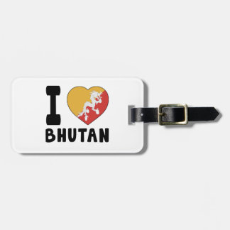 I Love Bhutan Luggage Tag