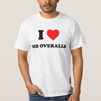 I Love Bib Overalls T-Shirt