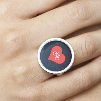 I Love Bicycles Ring
