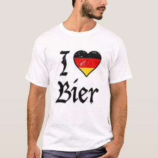 I Love Bier funny German Beer Oktoberfest shirt