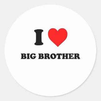 I Love Big Brother Stickers