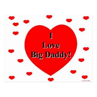 I Love Big Daddy Hearts by A. Celeste Sheffey Postcard