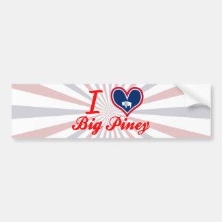 I Love Big Piney, Wyoming Bumper Sticker