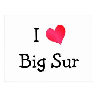 I Love Big Sur Post Card