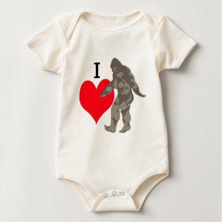 I LOVE BIGFOOT 1 BABY BODYSUIT