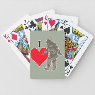 I LOVE BIGFOOT 1 BICYCLE PLAYING CARDS