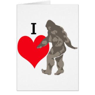 I LOVE BIGFOOT 1 CARD
