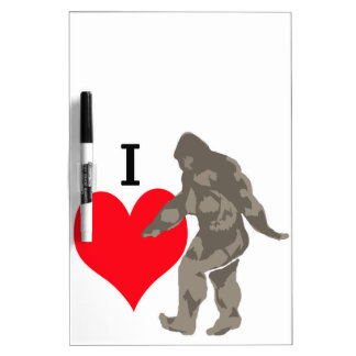 I LOVE BIGFOOT 1 DRY ERASE BOARD