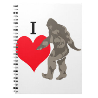I LOVE BIGFOOT 1 NOTEBOOK