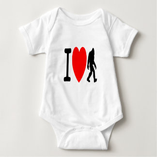 I LOVE BIGFOOT BABY BODYSUIT