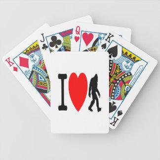 I LOVE BIGFOOT BICYCLE PLAYING CARDS