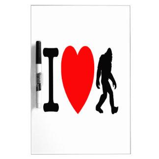 I LOVE BIGFOOT DRY ERASE BOARD
