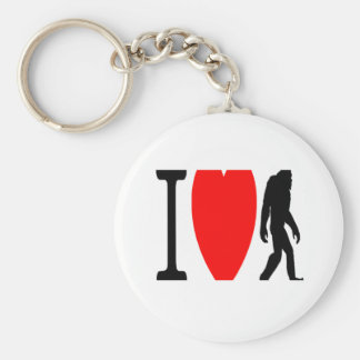 I LOVE BIGFOOT KEYCHAIN