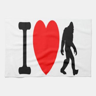 I LOVE BIGFOOT KITCHEN TOWEL