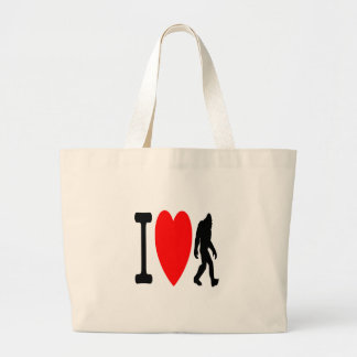I LOVE BIGFOOT LARGE TOTE BAG