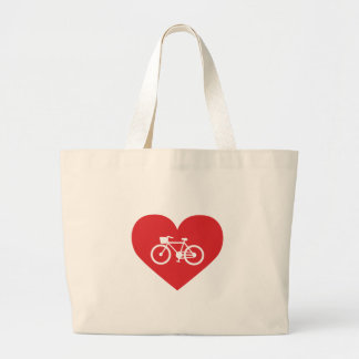 I Love Biking Large Tote Bag