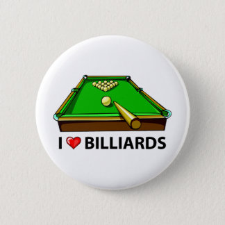 I Love Billiards 2 Inch Round Button