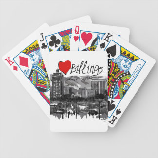 I love Billings Bicycle Playing Cards