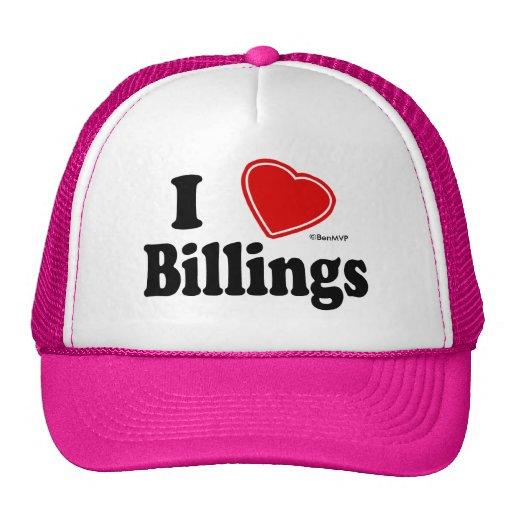 I Love Billings Trucker Hat