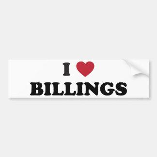 I Love Billings Montana Bumper Sticker