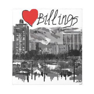 I love Billings Notepad