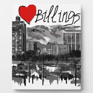 I love Billings Plaque