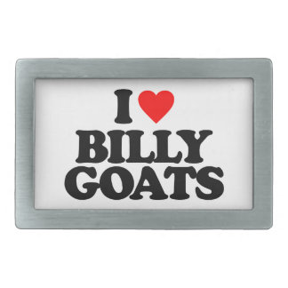 I LOVE BILLY GOATS RECTANGULAR BELT BUCKLES