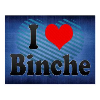 I Love Binche, Belgium Postcard