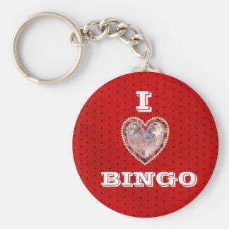 I Love Bingo keychain