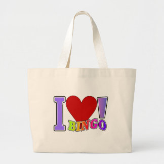 I Love Bingo Large Tote Bag