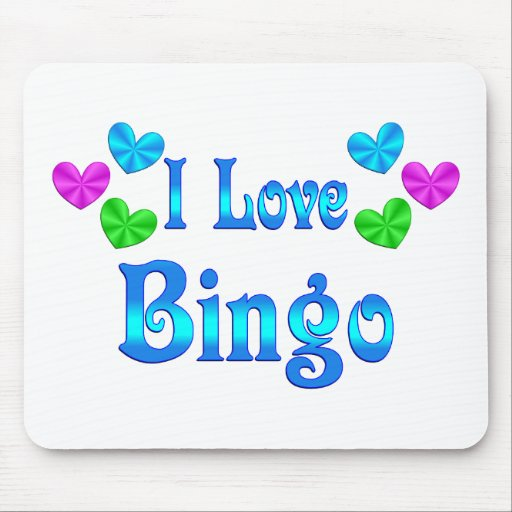 I Love Bingo Mouse Pads