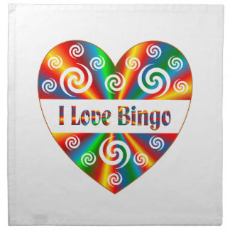 I Love Bingo Napkin