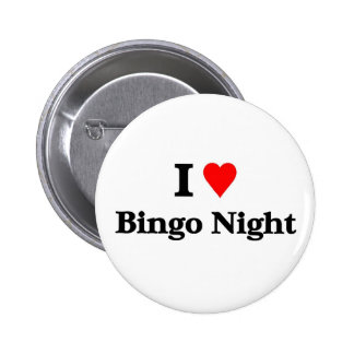 I love bingo night 2 inch round button