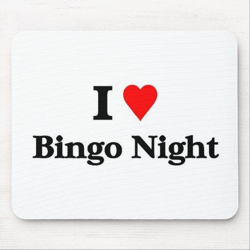 I love bingo night mousepad