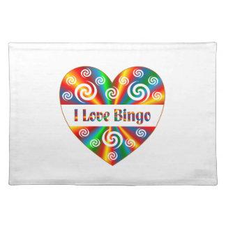 I Love Bingo Placemat