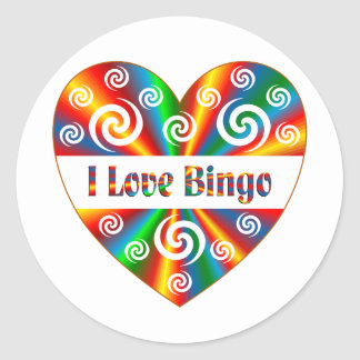 I Love Bingo Round Sticker