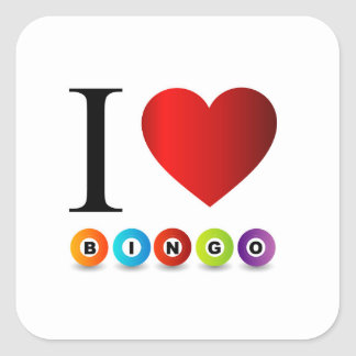 I love bingo square sticker