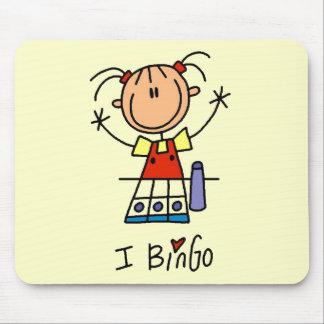 I Love Bingo Tshirts and Gifts Mouse Pad