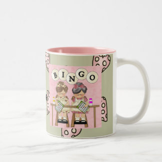 I Love Bingo Two-Tone Coffee Mug