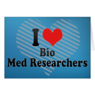 I Love Bio Med Researchers Cards