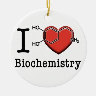 I Love Biochemistry Ceramic Ornament