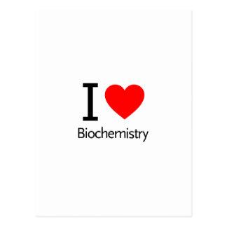 I Love Biochemistry Postcard