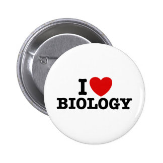 I Love Biology 2 Inch Round Button
