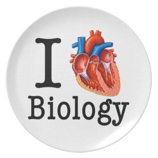 I love Biology Dinner Plate