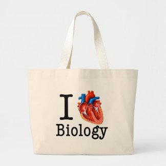I love Biology Large Tote Bag